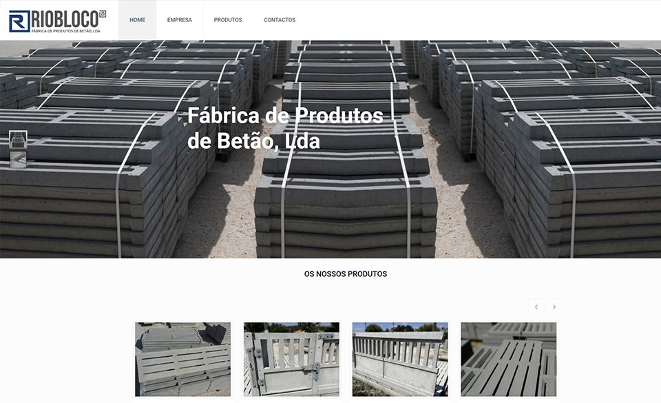 fábrica de produtos de betão